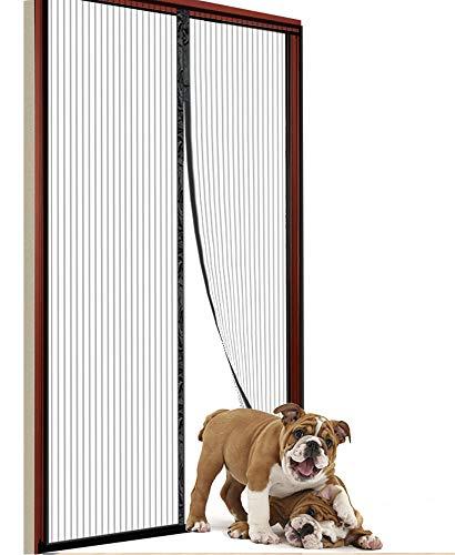 Durable Magnetic Screen Door 36 x 80, Magnetic Screen Door Curtain for Sliding Glass Door, French Doors, Patio Doors, Black