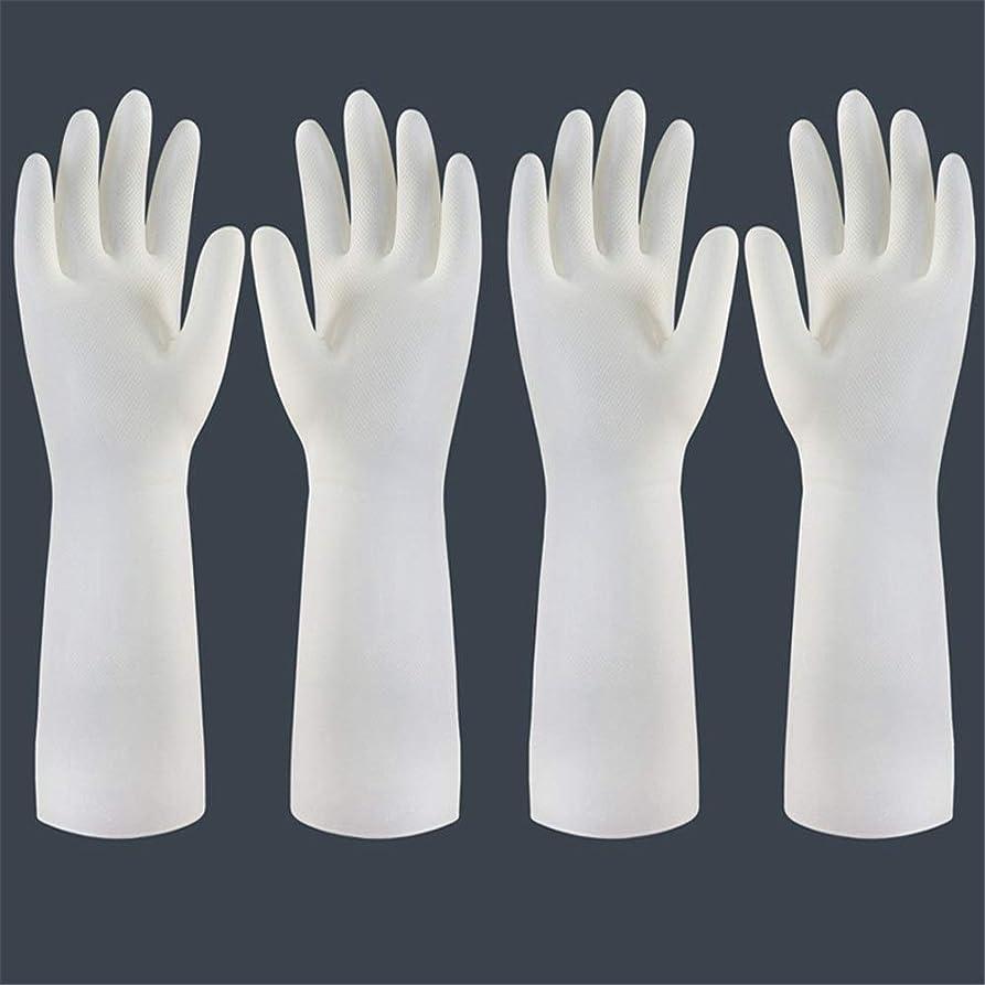 推進歯ピカリング使い捨て手袋 使い捨て手袋の防水および耐久のゴム製台所手袋、小/中/大 ニトリルゴム手袋 (Color : Long-2 pair, Size : S)