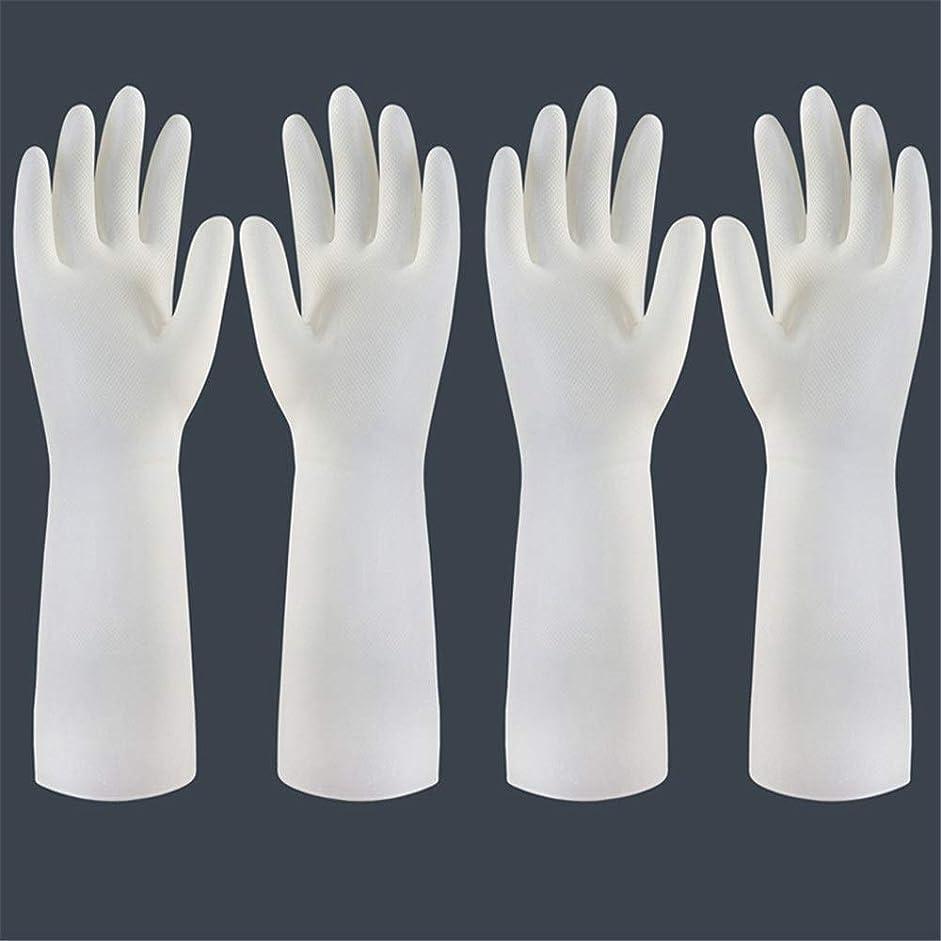 密度材料愚かな使い捨て手袋 使い捨て手袋の防水および耐久のゴム製台所手袋、小/中/大 ニトリルゴム手袋 (Color : Long-2 pair, Size : S)