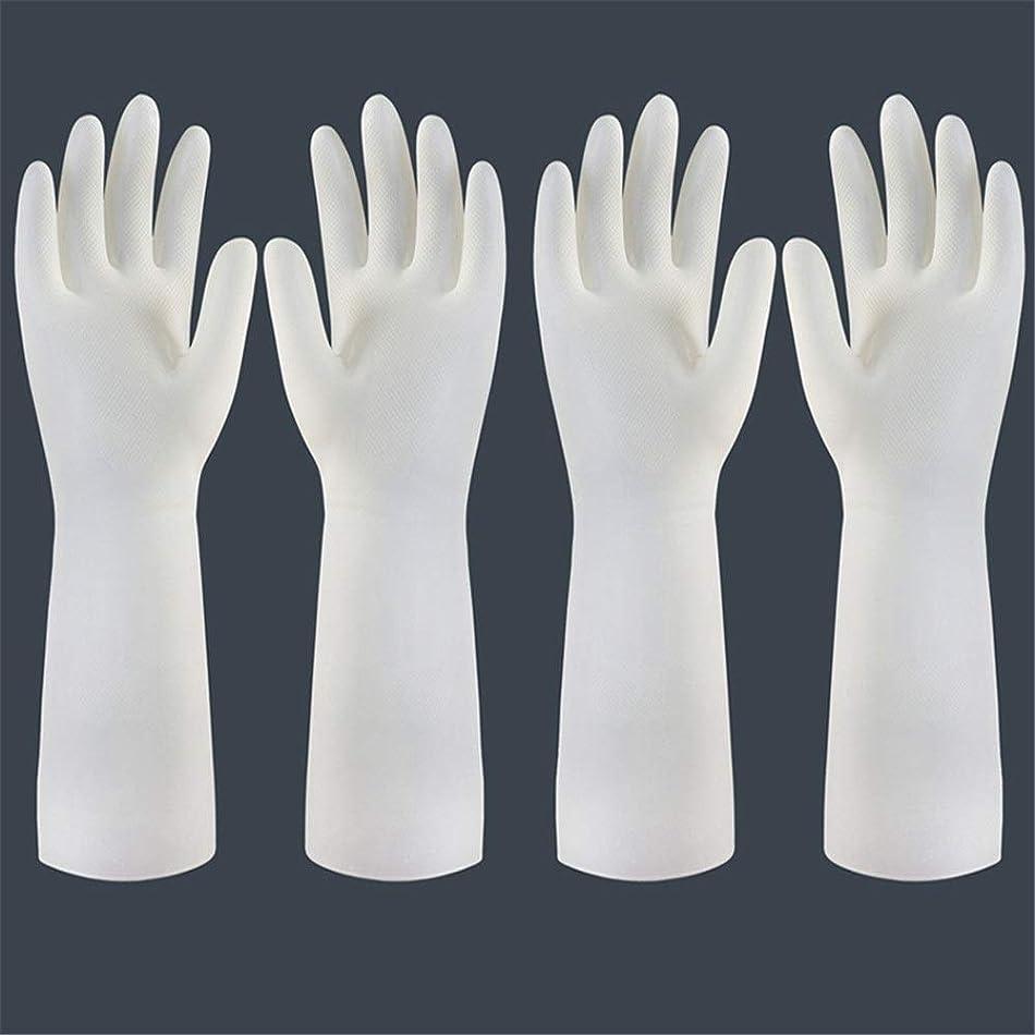 インフレーションフォアマン死にかけている使い捨て手袋 使い捨て手袋の防水および耐久のゴム製台所手袋、小/中/大 ニトリルゴム手袋 (Color : Long-2 pair, Size : S)
