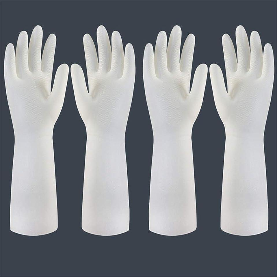壊れたタールまどろみのある使い捨て手袋 使い捨て手袋の防水および耐久のゴム製台所手袋、小/中/大 ニトリルゴム手袋 (Color : Long-2 pair, Size : S)
