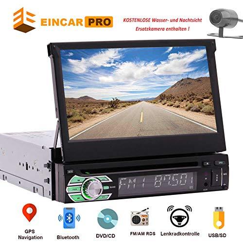 Caméra sans fil inclus! Eincar simple DIN GPS voiture DVD Lecteur CD Autoradio Support SD /...