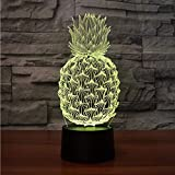 Dwthh Led 7 Farbe 3D Allmähliche Veränderung Optische Täuschung Ananas Modellierung Nachtlicht...