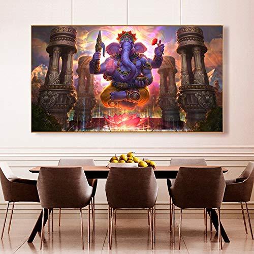 yaoxingfu Puzzle 1000 Piezas Cuadro Mural de Pintura de Buda Gordon religioso de Lord Elefante Indio Puzzle 1000 Piezas paisajes Gran Ocio vacacional, Juegos interactivos familiares50x75cm(20x30inch)