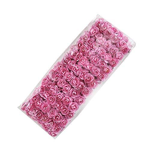 NWSX 144 stücke Mini Papier Rose handgemachte künstliche Blume Bouquet Hochzeit Dekoration DIY Kranz Geschenk schrott buchung Handwerk gefälschte flowes gefälschte Blumen (pink)