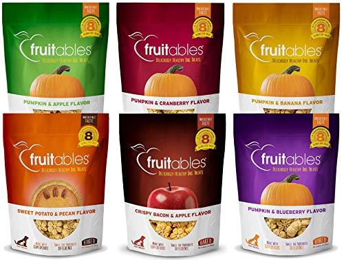 Fruitables Pumpkin Dog Treats, 7oz, Crunch Variety...