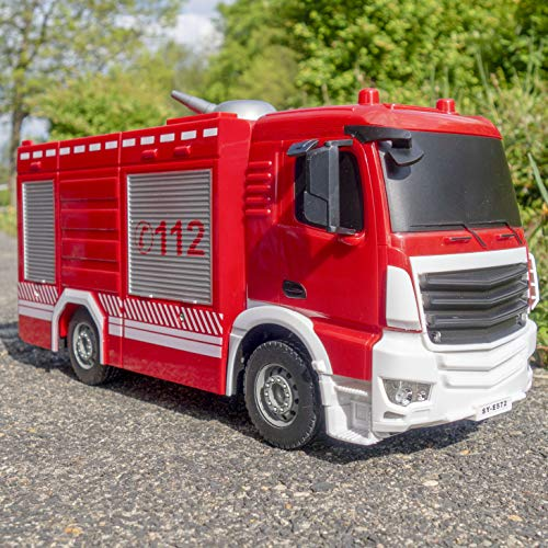 RC Auto kaufen Feuerwehr Bild: RAYLINE RC Feuerwehr Auto Car Ferngesteuerte Bus E572-003 Löschfahrzeug mit Wasserpumpe*
