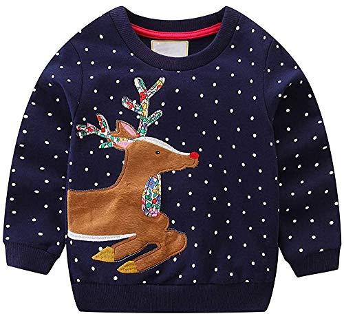 Weihnachten Mädchen Sweatshirt für Kinder Baumwolle Top Casual Jumper Mädchen T Shirt Kleinkind Kleidung Langarm Pullover Winter Frühling