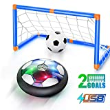 WisToyz Hover Soccer Ball Set 2020 Version, Rechargeable Air Soccer No Battery Needed, 2 Upgraded Goals, LED...