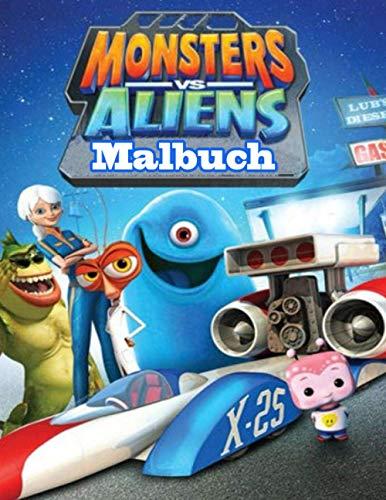 Monsters vs Aliens Malbuch