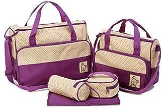 طقم 5 في 1 حقيبة يد متعددة الاستعمالات، للام ولغيار الطفل وللحفاضات