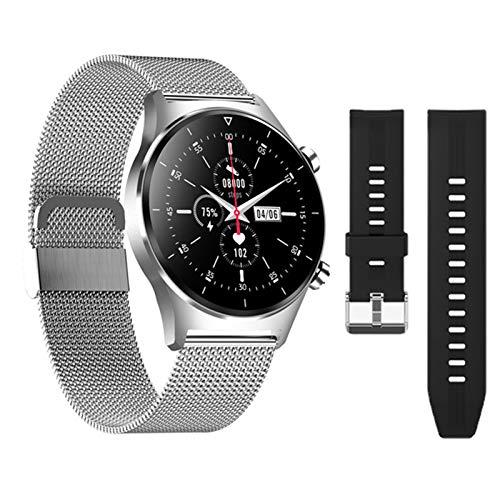 ZYDZ E13 Último Reloj Inteligente para iOS Android E13 Monitoreo De Tarifas Cardíacas Hombres Y Mujeres Deportes Smartwatch Pedómetro Pantalla Redonda Reloj Bluetooth,B