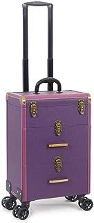 حقيبة مستحضرات التجميل عربة كبيرة السعة متعددة الطبقات صندوق تخزين أدوات تجميل مانيكير صندوق مصفف شعر حقيبة عربة