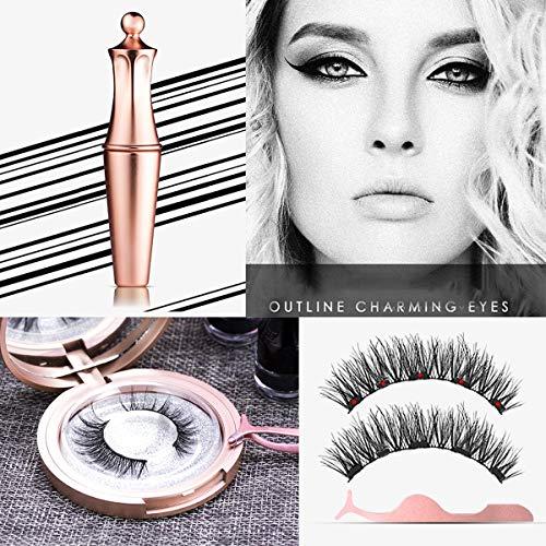 Traceur à paupières liquide magnétique & pinces à cils magnétiques et pince à épiler Collection Luxury Eyeliner à pince liquide magnétique fait main Magnetic Eye Imperméable Maquillage des yeux #AD811