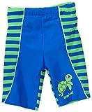 Playshoes Unisex - Baby Babybekleidung/ Badebekleidung UV-Schutz nach Standard 801 und Oeko-Tex Standard 100 Badehose Shorty Schildkröte mit Streifen und Windeleinsatz 460058, Gr. 86/92, Blau (791 blau/grün)