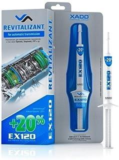 XADO Revitalizant EX120 تهویه مطبوع برای Gearbox اتوماتیک و افزودنی CVT Tiptronic Transmission Oil Additive (جعبه، سرنگ 8 میلی لیتر) مایع محافظتی - بازگرداندن قطعات فلز ATF از پوشیدن (به صورت خودکار)