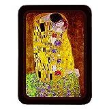 Klimt Il Bacio Svuotatasche, Metallo, Multicolore, 35 x 25 x 1 cm