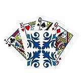 Marruecos - Juego de mesa para jugar al póquer con diseño de flores decorativas