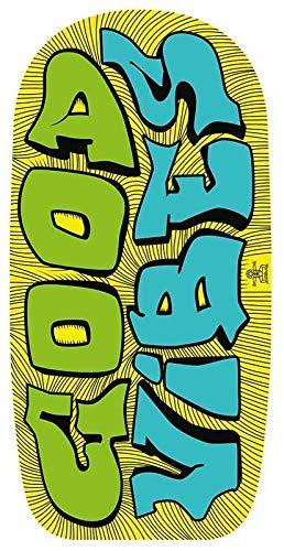 Lively Moments Bodyboard/Wellenreiter/Surfbrett/Schwimmbrett Good Vibes in gelb ca. 102 cm