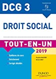 DCG 3 - Droit social 2019 - Tout-en-Un - Tout-en-Un (2019)