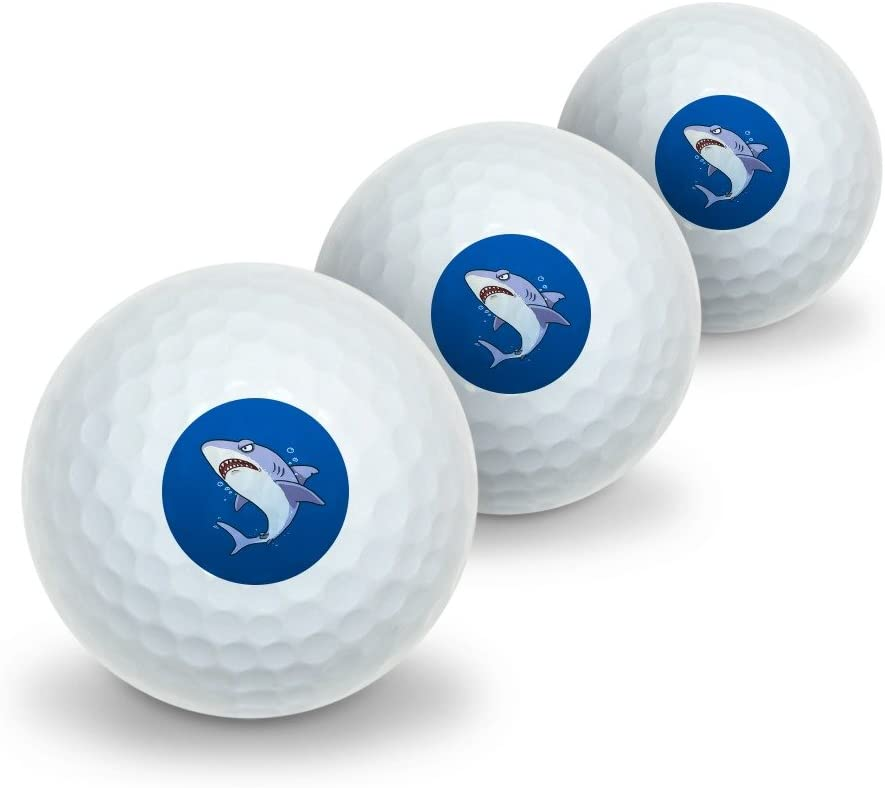 GRAPHICS Max 83% OFF MORE Indefinitely Great White Shark Golf in Cartoon Ocean Novelty