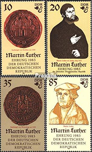 Prophila Collection DDR 2754-2757 (kompl.Ausg.) 1982 500.Geburtstag von Luther (I) (Briefmarken für Sammler) Christentum
