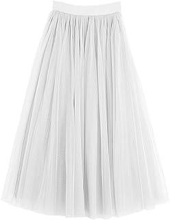 3b94e913f3380 Amazon.fr : jupe tutu long femme - Blanc : Vêtements