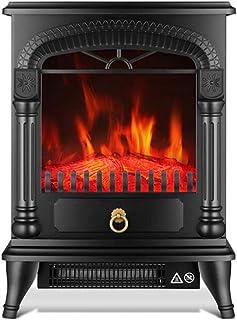 CJC Termoventiladores y calefactores cerámicos Estufas De Pie Llama Hogar 1000W 2000W Casa Oficina Calor Llama Hogar