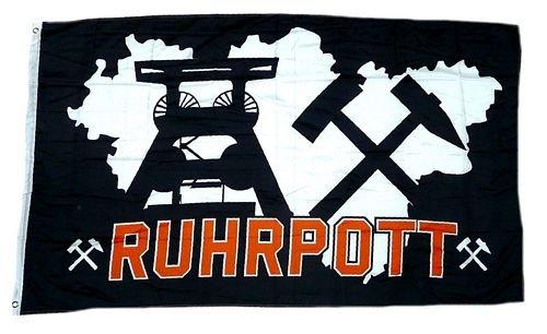 Flagge/Fahne Ruhrpott schwarz 90 x 150 cm