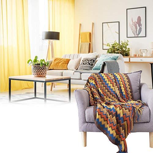 Eternitry - Manta de sofá grande para sala de estar, manta de punto bohemia con borla de cachemira de 51.2 x 66.9 pulgadas para sofás y sillones