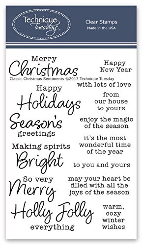 Classic Christmas Sentiments Clear Stamps - Christmas Stamps | Clear Rubber Stamps | Photopolymer Stamps | Card Making Supplies