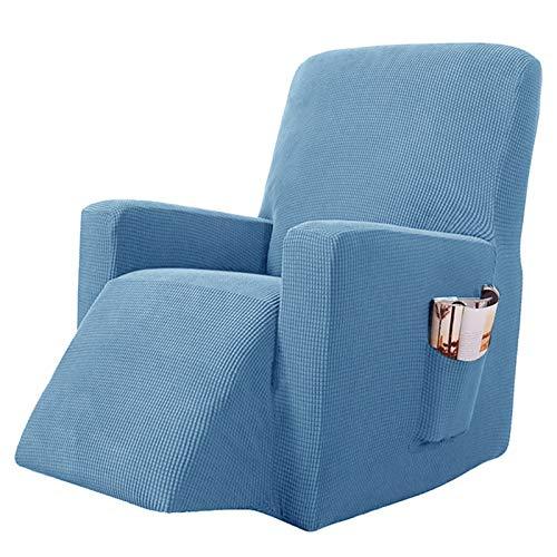 YRRA Alta Elasticidad Todo Incluido Funda de sofá, Color sólido Tejido Jacquard Funda de sofá Lavable Sofá Cubierta Protectora, para la Sala de Estar Perro Mascota Protector de Muebles,Denim Blue