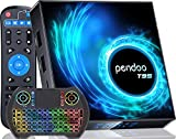 Android TV Box 10.0 4GB RAM 128GB ROM, 2021 Upgraded Pendoo T95 Android TV Box Allwinner H616 2.4G/5.8GHz WiFi Bluetooth, Android Box 10.0 with Wireless Mini Keyboard Ultra HD 6K HDR TV Box.