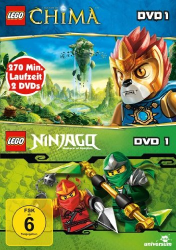 Lego: Legends of Chima, DVD 1 / Lego Ninjago: Meister des Spinjitzu, DVD 1 [2 DVDs]