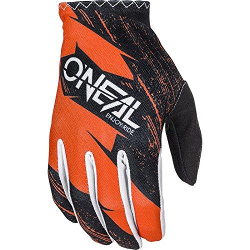 O'NEAL   Fahrrad- & Motocross-Handschuhe   Kinder   MX MTB DH FR Downhill Freeride   Langlebige, Flexible Materialien, belüftete Handoberseite   Matrix Youth Glove Burnout   Schwarz Orange   Größe XS