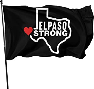 ZHANGPEIENfaqi El Paso Strong Flag 3' X 5' Ft Outdoor Flags Banner Breeze Flag