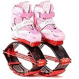 HYE Adolescentes Anti-Gravedad Botas Bounking Bota de Interior Botas Running Zapatos de Salto Zapatos Elásticos Pérdida de Peso Equipos de Aptitud Rango de Carga de peso50-70kg,Rosado