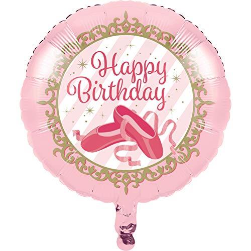 Creative Converting 324440 Twinkle Toes Ballerina Ballet Birthday Foil Ballon Ballon, folie, roze