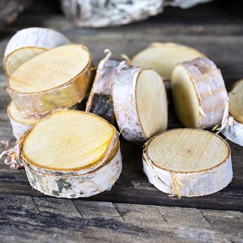 "Natural Mini Wood Slices, Round Thick Wood Rounds 1.5""-2.5"""
