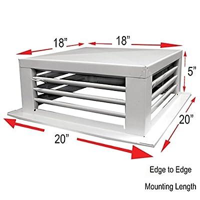 White Powder Coated 4-Way Adjustable Metal Diffuser for Evaporative/Swamp Cooler