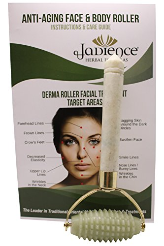 Skin Massage RollerJade Stone for Face & Body: Facial Lines, Neck, Arms, Thighs, Feet | Relaxation & Stress Reduction | Natural Stress Relief Gifts & Anti-Aging Natural Beauty Products by Jadience