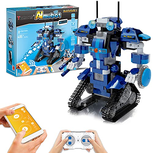 Tomons Stem Projects for Kids Ages 8-12 Remote & APP Controlled Robot ,Educational Science Building Toys for 8,9,10,11,12 Year Old Boys and Girls - 405+ Pieces
