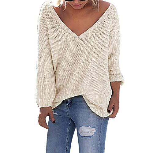 Deelin top trui voor herfst, in grootte verstelbaar, V-hals, lange mouwen