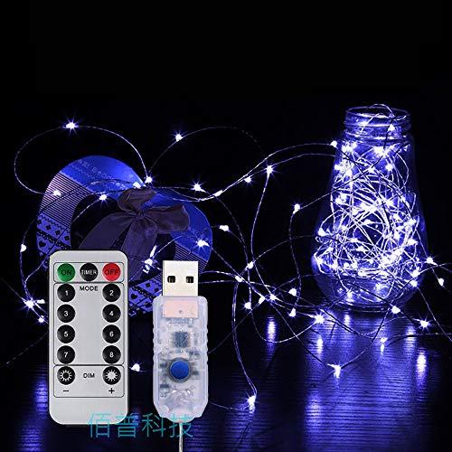 QHQH LED Streifen LED Strip Kleine Laterne String Led Himmel voller Sterne Lichter Raumdekoration Lichter USB Blinklichter 8 Modi für Raum Küche TV-Party Mit Fernbedienung (5m, 10m)