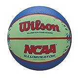 Wilson NCAA Illuminator Glow in The Dark Basketball, 28.5' Blue/Yellow