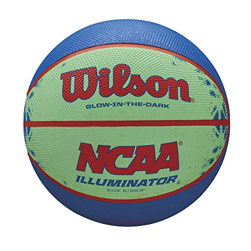 Buy Cheap Wilson NCAA Illuminator Glow in The Dark Basketball, 28.5 Blue/Yellow