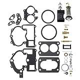 ConPus Carburetor Repair Rebuild Kit For Mercruiser Marine 2 Barrel Rochester Carburetor with FLOAT 3302-804844002# 1389-9562A1 1389-9563A1 1389-9564A1 1389-9670A2 1389-806077A2 1389-806078A2
