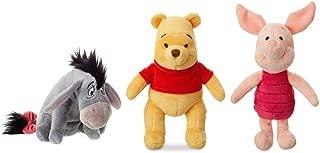 Disney Winnie The Pooh Mini Bean Bag Plush Set - Pooh, Eeyore, and Piglet