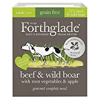 WET DOG FOOD PACK: 7 X 395g trays of grain free Beef & Wild Boar gourmet dog food your dog will love NATURAL INGREDIENTS: Bursting with goodness and made using natural ingredients, with added vitamins, minerals & botanicals, gently steamed to retain ...