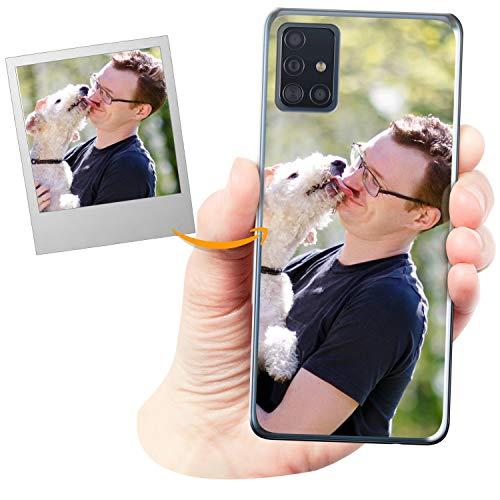 Coverpersonalizzate.it Cover Personalizzata per Samsung Galaxy A51con la Tua Foto, Immagine o Scritta - Custodia Morbida in TPU Gel Trasparente - Stampa di altissima qualità